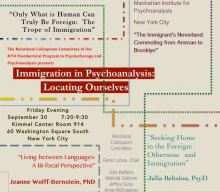 Immigration in PsychoanalysisLocating Ourselves