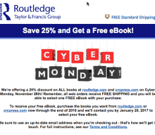 Cyber Monday! Rutledge Book Special and Free Shipping:
