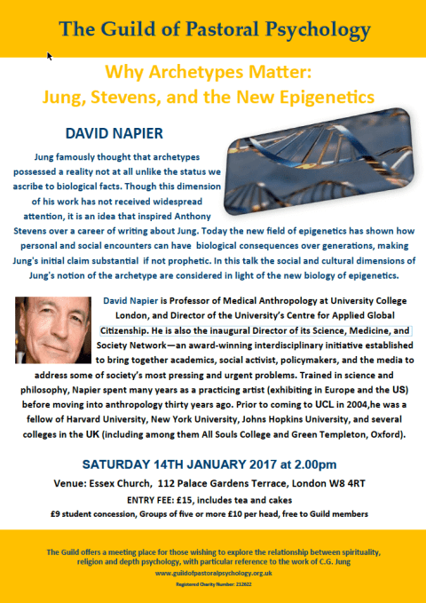 The Guild of Pastoral Psychology Presents: Why Archetypes Mater: Jung, Stevens, and the New Epigenetic
