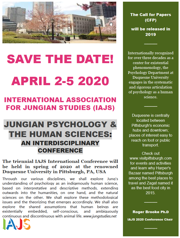 Jungian Psychology & the Human Sciences April 2-5 2020 IAJS Conference