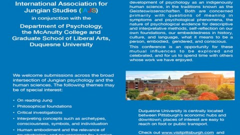 Call for papers: IAJS 2020 Conference: Jungian PSychology and the Human Sciences.