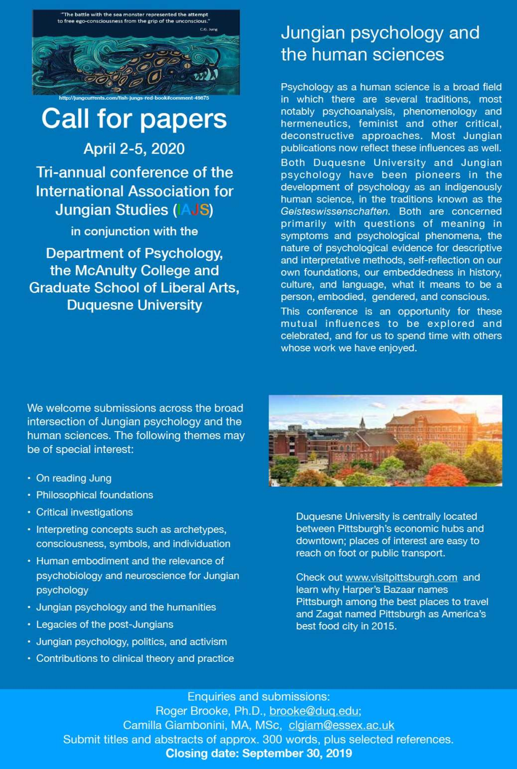 Call for Papers: Jungian Psychology & the Human Sciences - IAJS