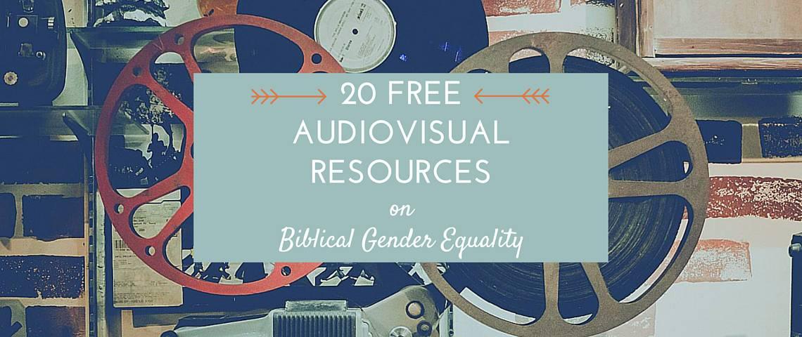 20 AV Resources Biblical Gender Equality