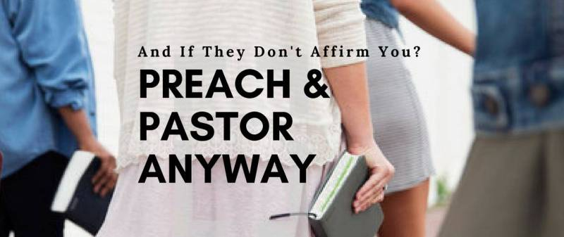Woman holding bible preach and pastor