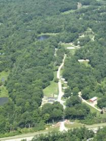 Unser Campinplatz von oben :)