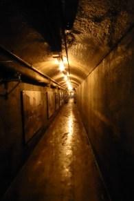 Durch den Tunnel zu den Ställen
