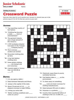 egypt's cont. crossword