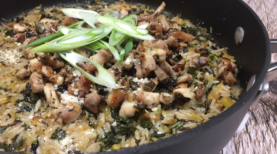 Skillet Roasted Chicken and Wild Rice
