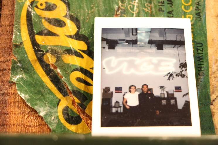 Distrikt Movement co-owners, Ally Maz and Jian Pablico hanging out at Vice.