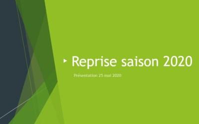 Infos saison 2020