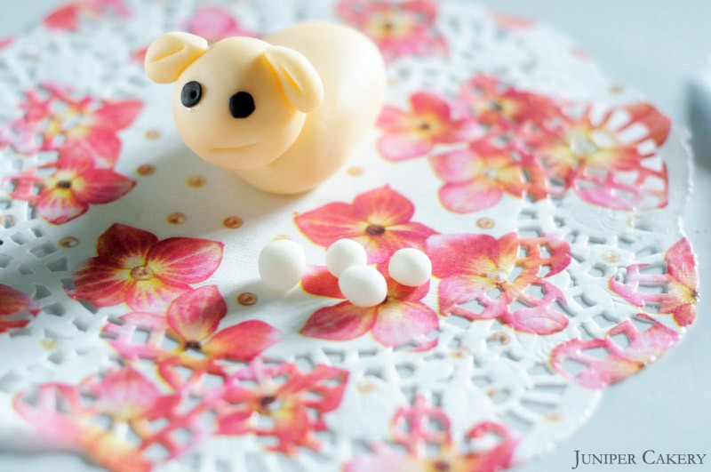 Tutorial Tuesday: How to create a sugarpaste lamb for St. David's Day!