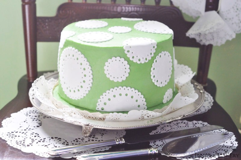 Crème de Menthe Cake In partnership with The Happy Egg Co.