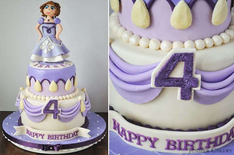 Phenomenal Sofia The First Birthday Cake Juniper Cakery Cakes In Hull Birthday Cards Printable Benkemecafe Filternl