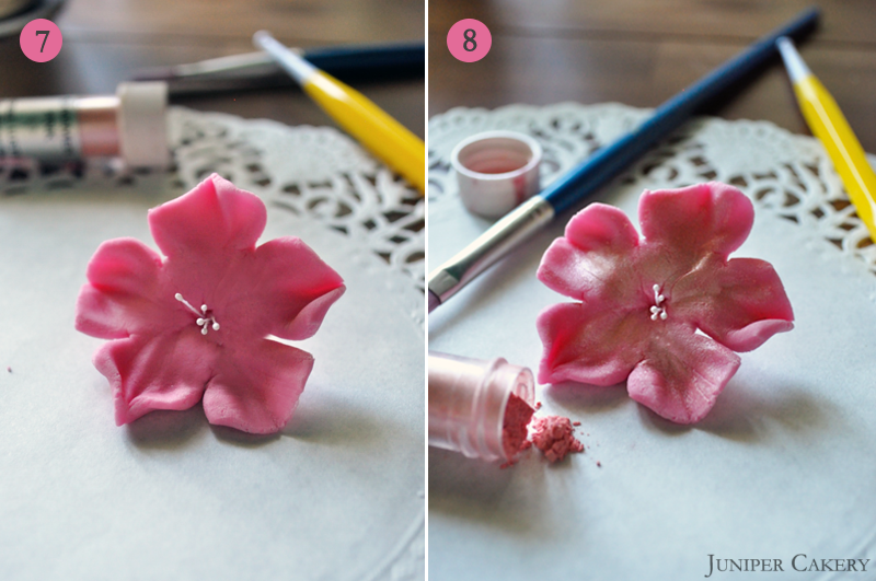 How to make fondant cherry blossoms