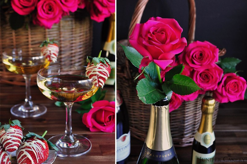 Champagne, Chocolate and Strawberries Cake Development