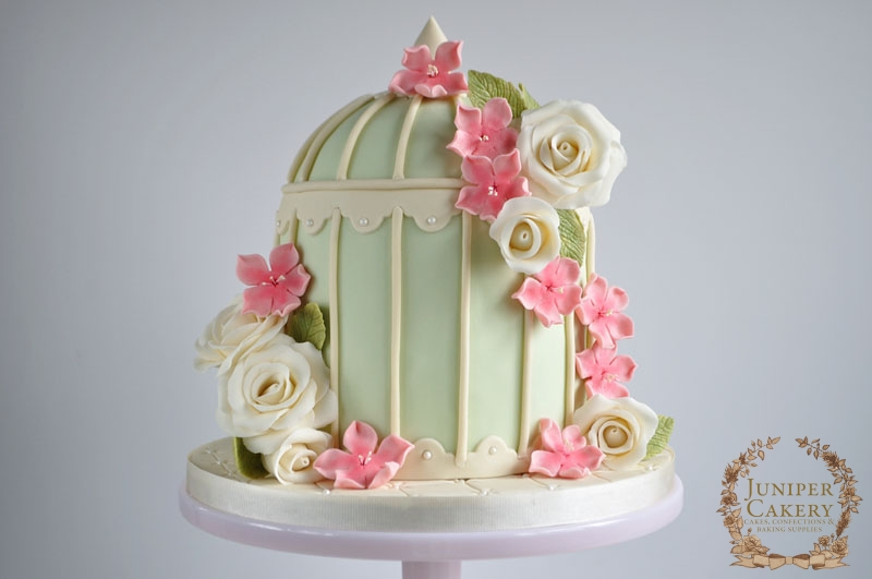 Floral Birdcage Cake by Juniper Cakery