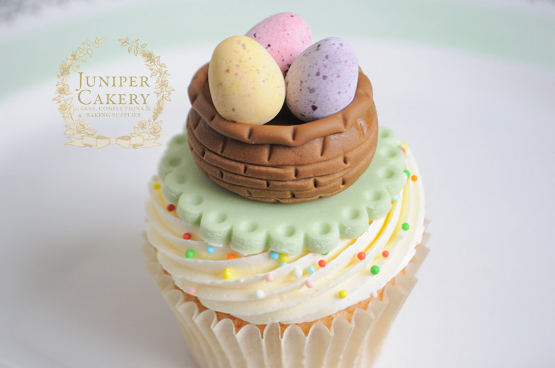Sweet Easter basket tutorial by Juniper Cakery
