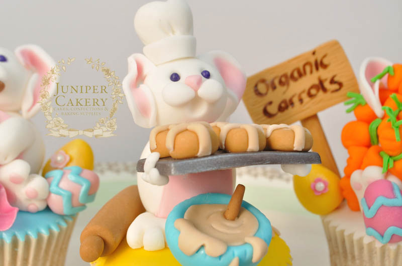 Adorable Easter Bunny Cupcakes and Toppers by Juniper Cakery