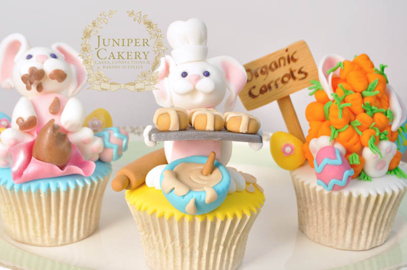 Funny Easter Bunny Cupcake Toppers by Juniper Cakery