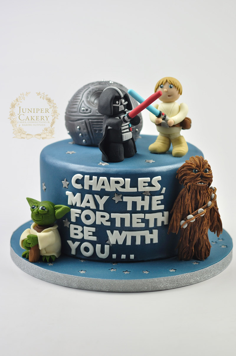 Cool 40Th Birthday Star Wars Cake Juniper Cakery Cakes In Hull Funny Birthday Cards Online Sheoxdamsfinfo