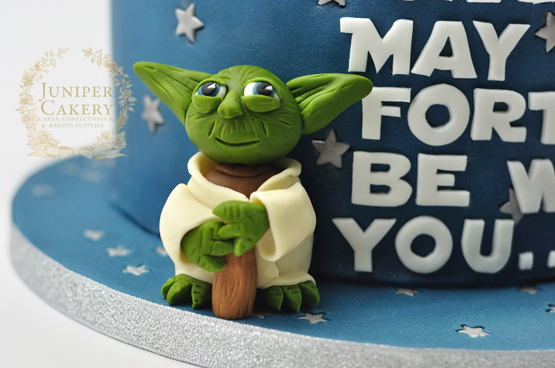 Star Wars cake with Yoda figure by Juniper Cakery