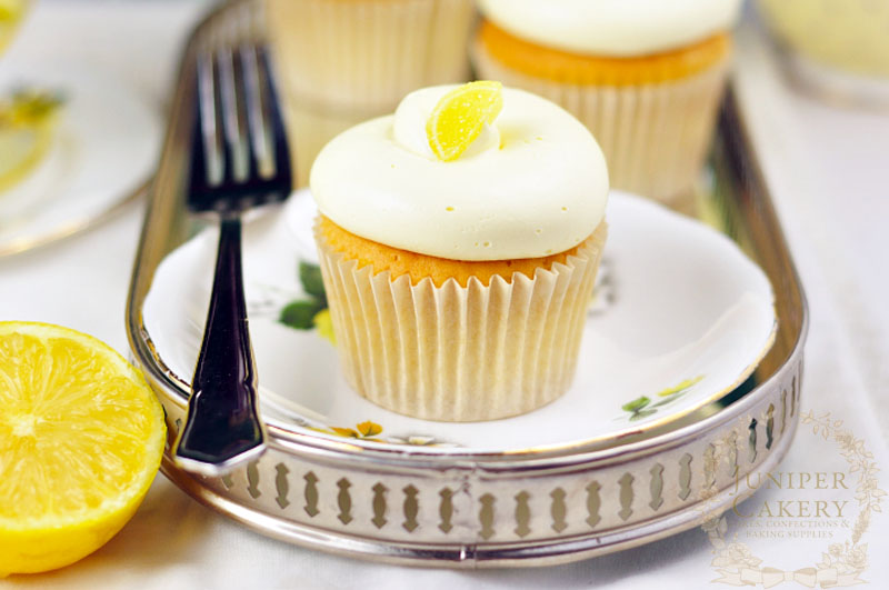Recipe for some tangy lemon cupcakes by Juniper Cakery