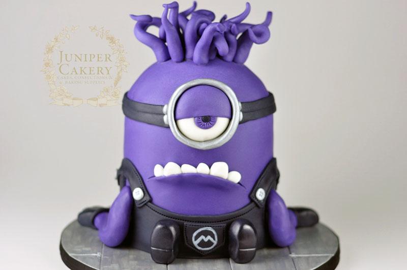 purple minion birthday cake