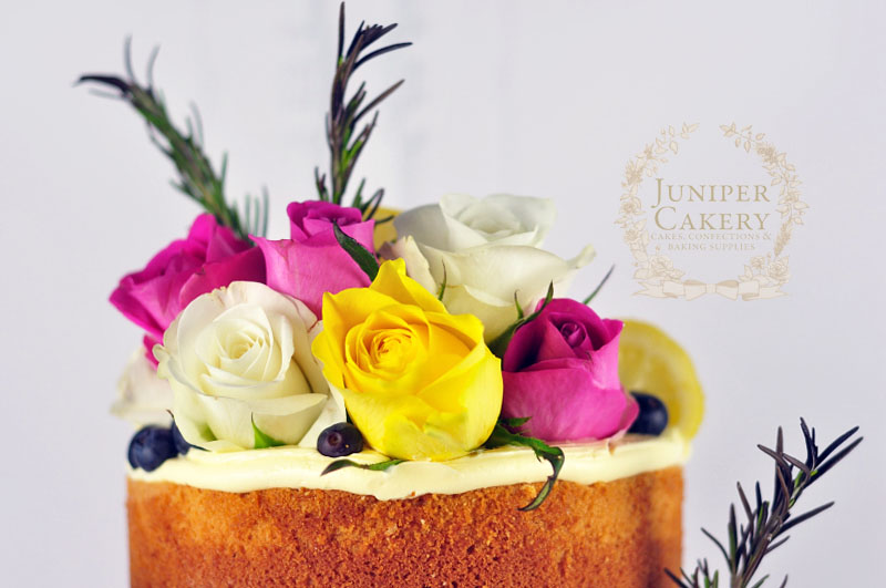 Buttercream naked cake by Juniper Cakery