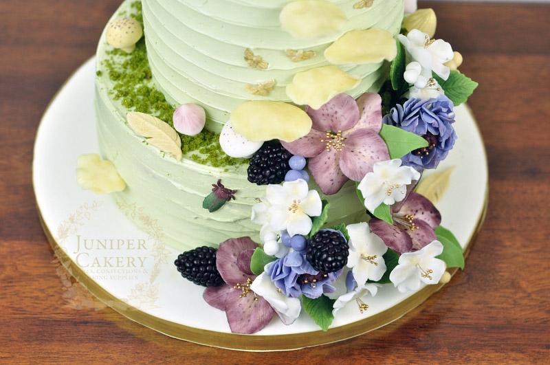 Woodland themed wedding cake by Juniper Cakery
