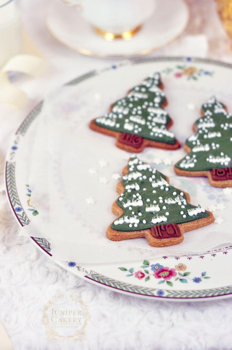 Christmas sugar cookie trees by Juniper Cakery