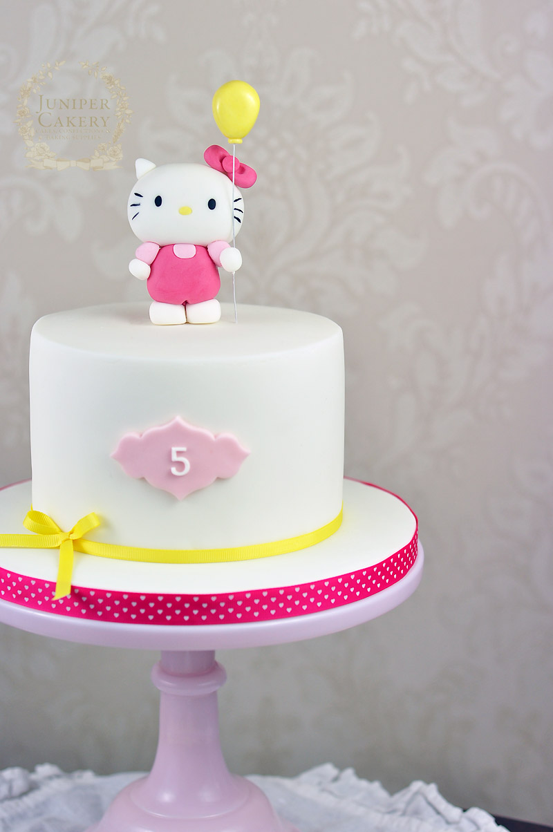 Brilliant Hello Kitty Birthday Cake Juniper Cakery Cakes In Hull Personalised Birthday Cards Paralily Jamesorg