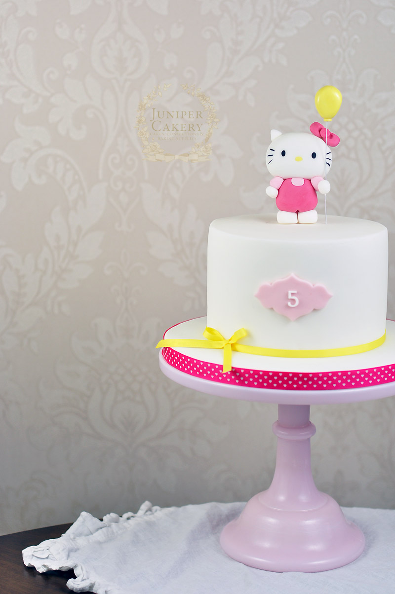 Cool Hello Kitty Birthday Cake Juniper Cakery Cakes In Hull Personalised Birthday Cards Paralily Jamesorg