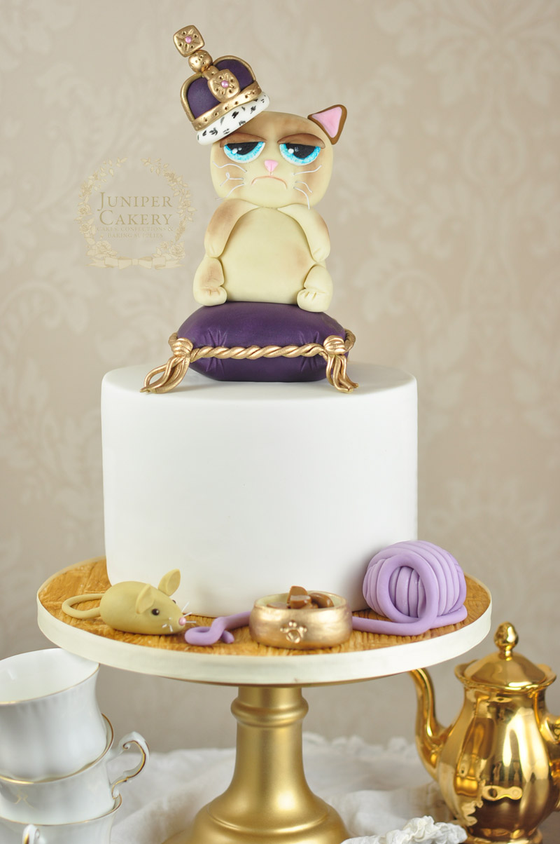 Fun Grumpy Cake cake by Juniper Cakery