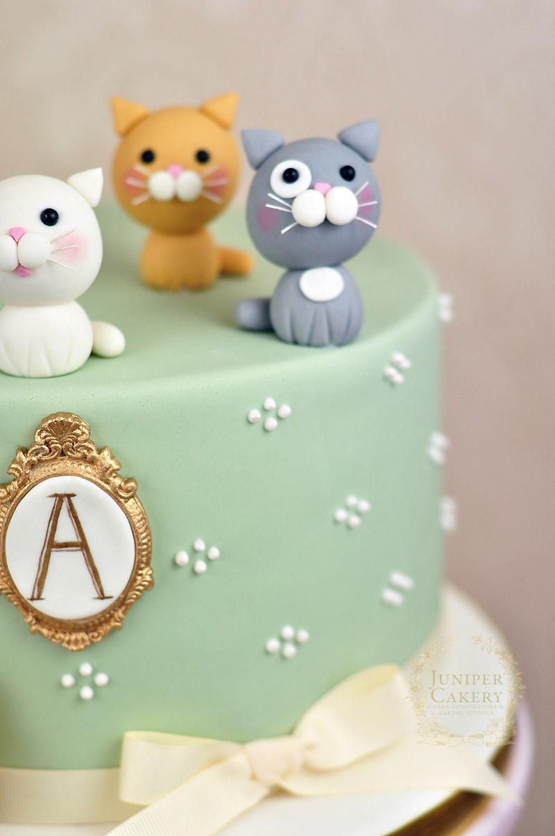 Adorably Sweet Kitten Themed Cake