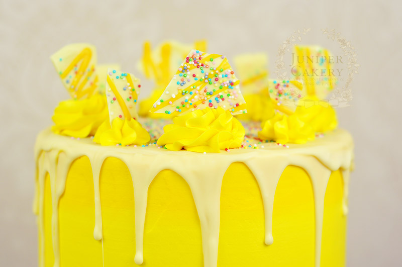 White chocolate and lemon cake by Juniper Cakery
