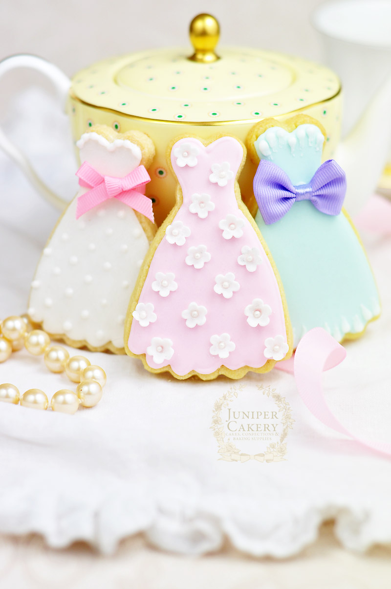 Vintage Prom Dress Bridal Shower Cookies!