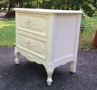 Vintage French Provincial nightstand painted