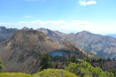 Diamond Lake, nestled in the Trinity Alps Wilderness along the Four Lakes trail.