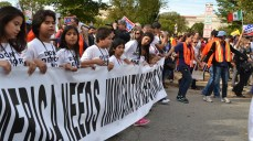 Children of undocumented immigrants march for their parents' right to stay in the U.S.