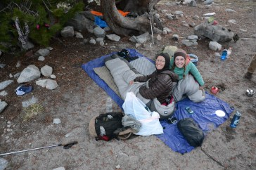 Laina and Paula's last night on the trail after more than three weeks of hiking together.