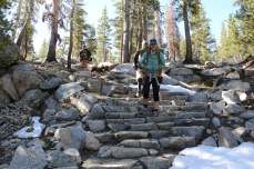 Granite stairways line some of the passes along the PCT.