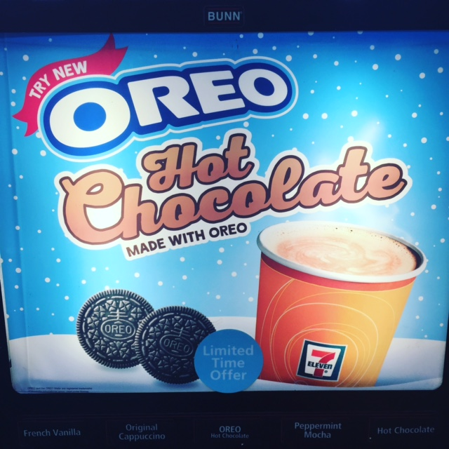 Review Oreo Hot Chocolate 7 Eleven Junk Banter