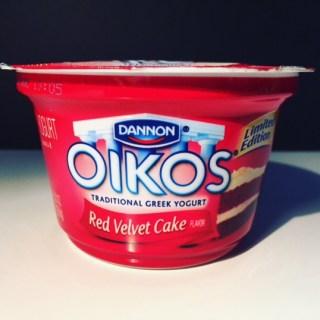 Dannon Oikos Red Velvet Cake