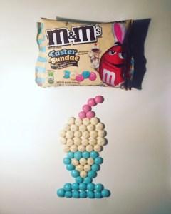 Easter Sundae M&M's
