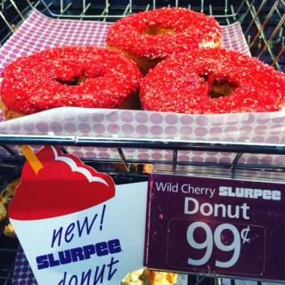 7-Eleven Wild Chrerry Slurpee Donut
