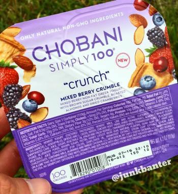 Chobani Simply 100 Crunch Mixed Berry Crumble
