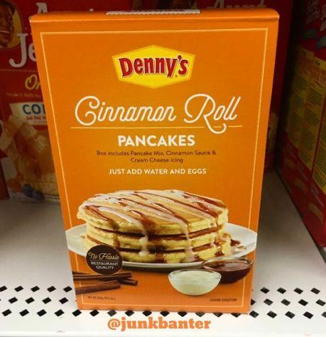 Denny's Cinnamon Roll Pancakes