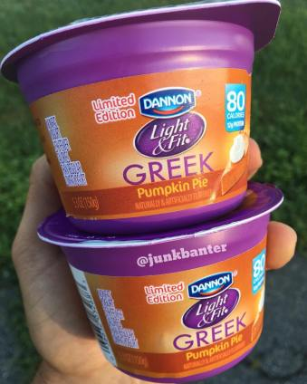 Dannon Light & Fit Pumpkin Pie Greek Yogurt
