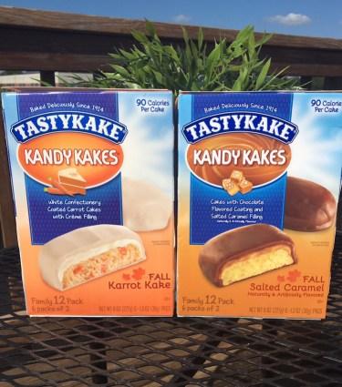 Tastykake Karrot Kake Kandykakes & Tastykake Salted Caramel Kandykakes