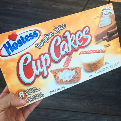 Hostess Pumpkin Spice Cupcakes